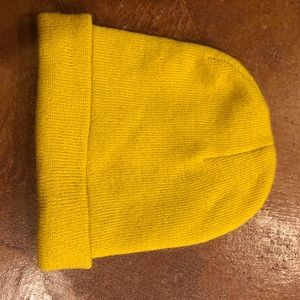 Mustard yellow urban outfitters beanie